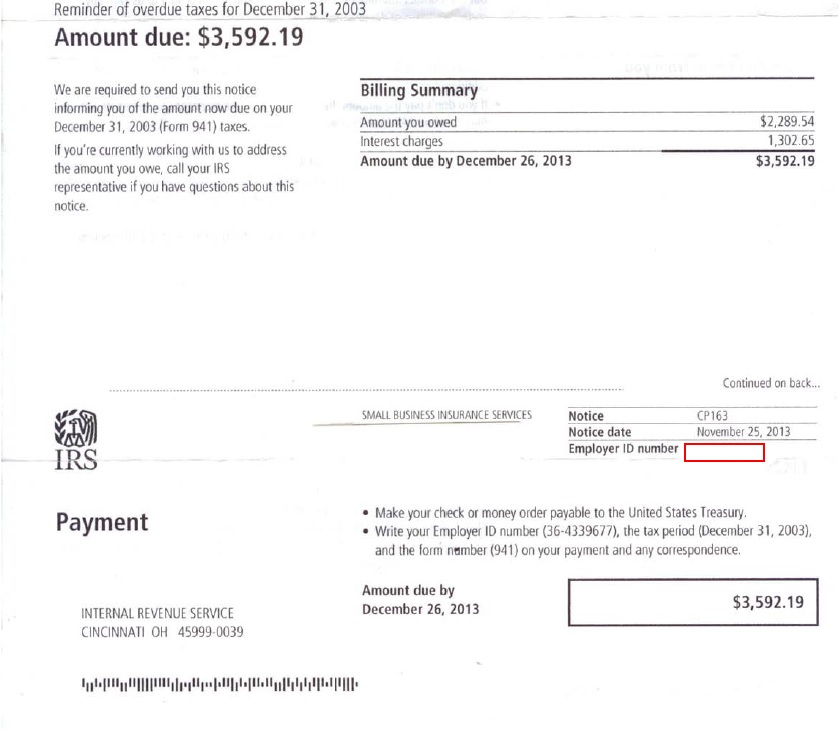 demand payment letter sample interview irs