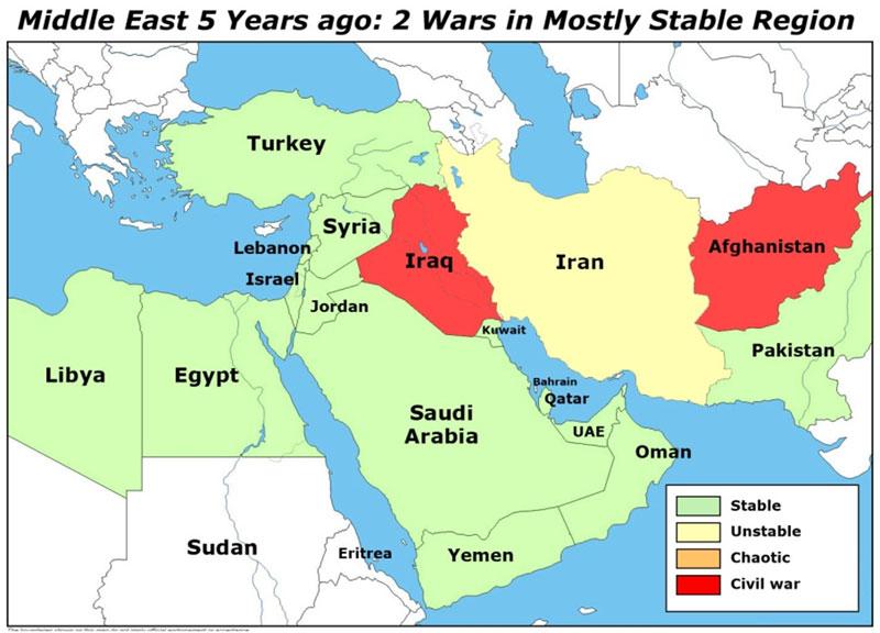 Blog Postponing World War III – Map of Arab Spring Countries