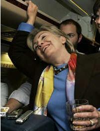 hillary clinton drunk