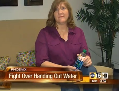 Woman Can't Give Away Water in Arizona Summer Heat