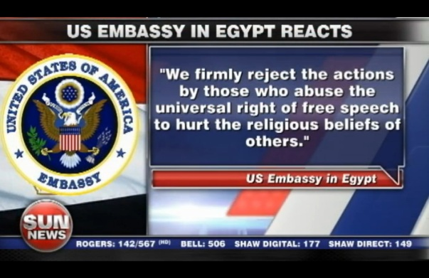 Bizarre Apology from Obama State Department following Violence
