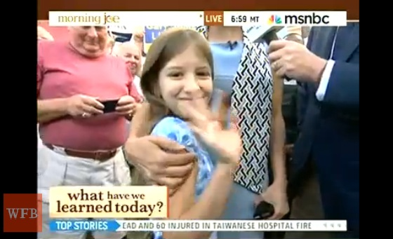 MSNBC Crowd Boos Little Girl for Supporting Mitt Romney