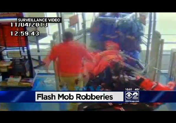 Caught on Tape - Chicago Flash Mob Robbery Mayhem
