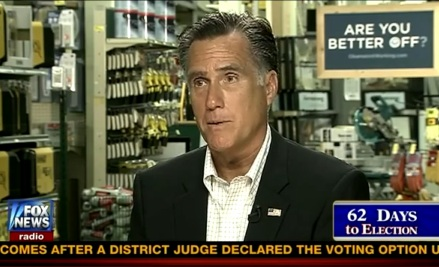 Romney says Obama has Thrown Israel Under the Bus