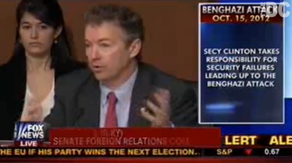 Rand Paul to Hillary Clinton: 'I would have relieved you of your post' if I were President