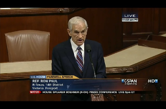 Ron Paul's Farewell Speech from the House Floor